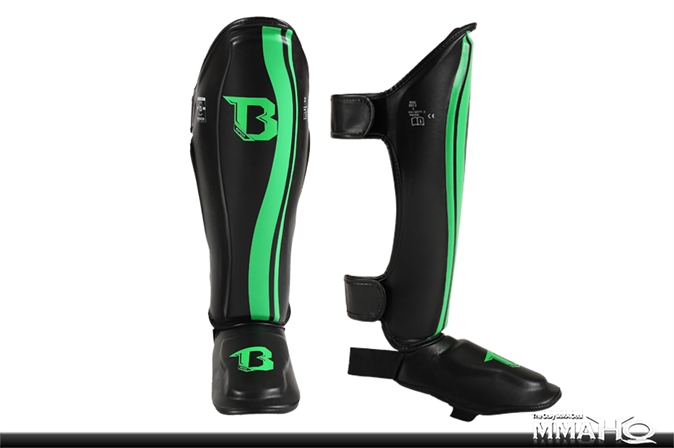 Booster Muay Thai Shin Guards - BlackGreen